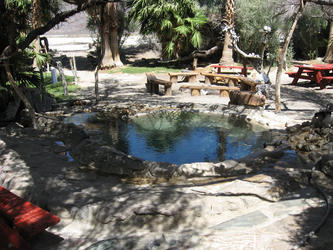 Main pool with group fire pit in background (Lower Saline)